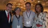From left: Dr. Jorge Giovannetti-Torres (University of Puerto Rico, Rio Piedras); Dr. Mariana Dantas (Ohio University); Dr. Michael Goebel (Graduate Institute, Geneva); Dr. Zaire Dinzey-Flores (Rutgers University).
