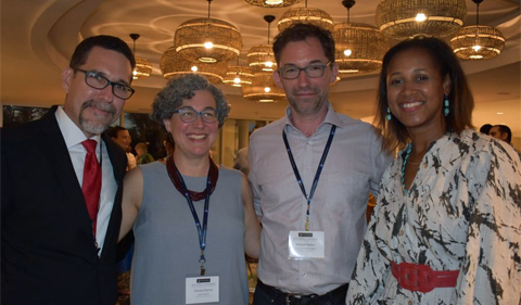 From left to right: Dr. Jorge Giovannetti-Torres (University of Puerto Rico, Rio Piedras); Dr. Mariana Dantas (Ohio University); Dr. Michael Goebel (Graduate Institute, Geneva); Dr. Zaire Dinzey-Flores (Rutgers University).