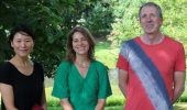 left to right: Xizhen Schenk, Katherine Fornash, and David Young, new geological sciences faculty