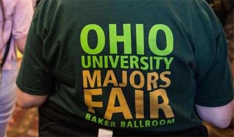 "Shirt with ""Ohio University Majors Fair"""