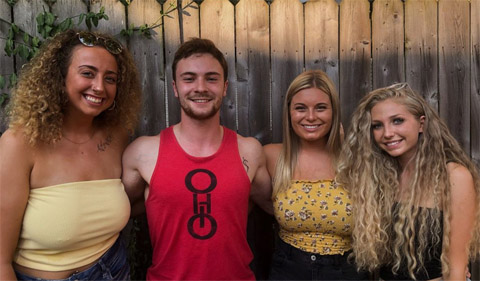 From Left to Right: Olivia Gedeon, Joe Landusky, Lydia Wendel, Brea Muzykoski