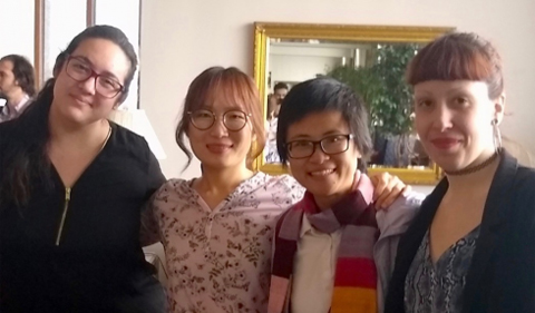 Carla Consolini, Dr. Christine MoonKyoung Cho, An Nguyen, and Irene Lucena, group photo