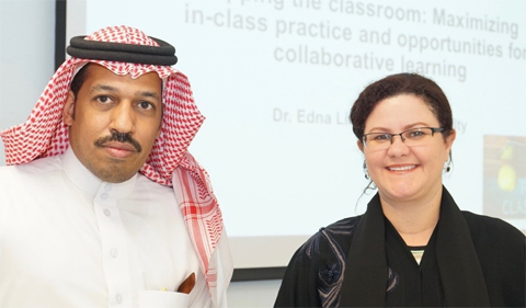 From left, Ahmed M. Al-Dookhi and Edna Lima