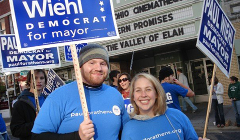 The Dorans campaigning for Paul Wiehl