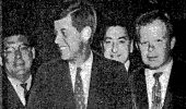 James Parobek with President John F. Kennedy