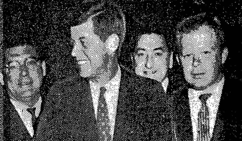 James Parobek with President John F. Kennedy