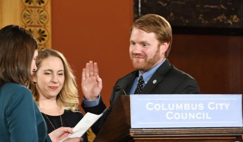 Rob Dorans sworn in at Columbus City Council