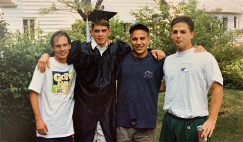 Sam Chamberlain at graduation