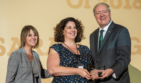 Sara Poggione (center) at 2019 newsmakers gala