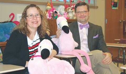 "Tracy Watson and Corey Boby now in ""The Flamingo Classroom"""