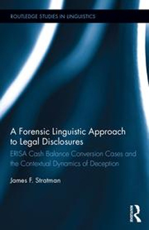 A Forensic Linguistic Approach to Legal Disclosures book cover
