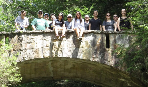 Sigma Delta Pi treats Spanish graduate students to a visit to Old Man's Cave