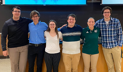 Student presenters at Society of Physics Students Research Conference