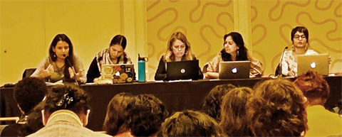 Presidential roundtable at the National Women's Studies Association meeting in San Francisco.
