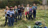 From left: Sierra Flynt, Ostin Kirkpatrick, Maura Linthicum, Avie Kalmar, Ridge Cook, Sarah Maracz, Becca Wagenknecht and Katy Campbell. Photo by Dr. Rebecca Snell.