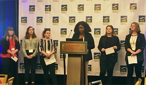Six OHIO students present their capstone service-learning project during the 19th annual Appalachian Teaching Project Symposium in Washington, D.C.