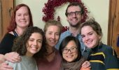 From left, Kalynda Thayer, Rasmia Shraim, Michelle O'Malley, An Nguyen, Mark Sakach, and Georgia Curran