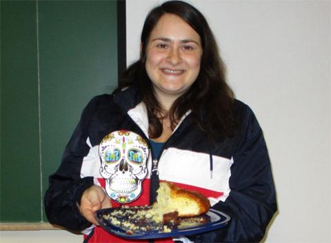 Pan de muertos contest winner Zoe Kiourtsis