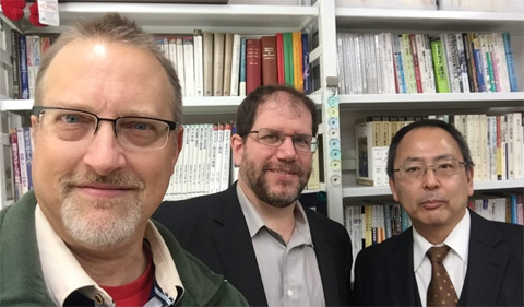 From left, Dr. Chris Thompson, Greg King and Tomo Yanagi at Chubu in October 2018.