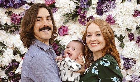 John, Ronan, and Anita Jenkins, family portrait