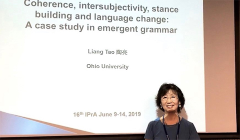 Liang Tao at International Pragmatics Association