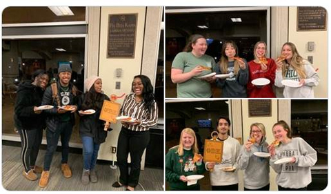 Phi Beta Kappa chapter gives away pizza during Keys to Action Week.