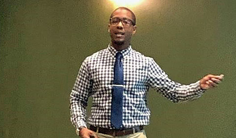 Travis White at NOBCChE Forum