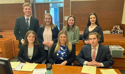 Defense Team Competes in Columbus, shown in group photo