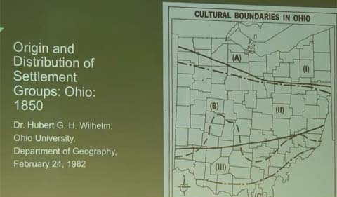Ohio map by the late Dr. Hubert Wilhelm, professor of Geography at OHIO.