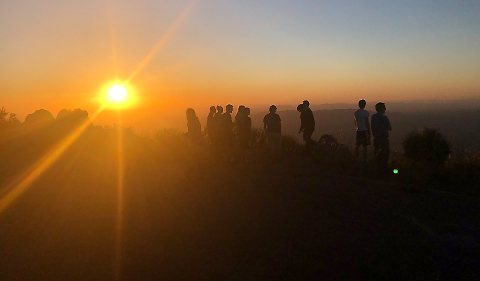 Kitt Peak sunset with class Fall 2019