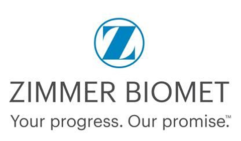 Zimmer Biomet logo, with tag phrase Your progress. Out promise.