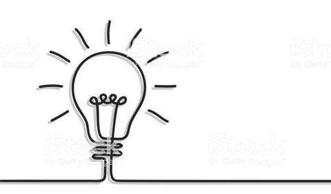 lightbulb idea graphic