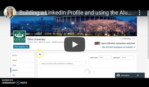 Building a LinkedIn Profile and using the Alumni Tool
