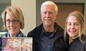 From left, Dr. Theresa Moran, Dr. Art Trese, and Joy Kostansek