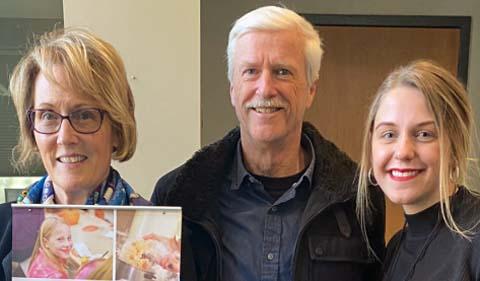 Dr. Theresa Moran, Dr. Art Trese, and Joy Kostansek