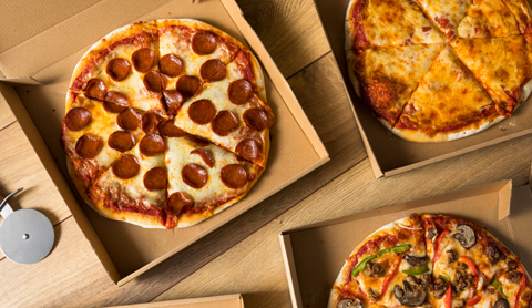 Take Out Pizza in a Box Ready to Eat
