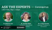Three Arts & Sciences Faculty on Coronavirus Experts Livestream, May 1