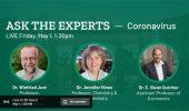Three Arts & Sciences Faculty on Coronavirus Experts Livestream, May 1