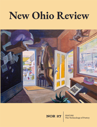 New Ohio Review Issue #27, with illustration from inside room looking out