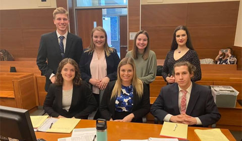 Wendel and OHIO Mock Trial team members.