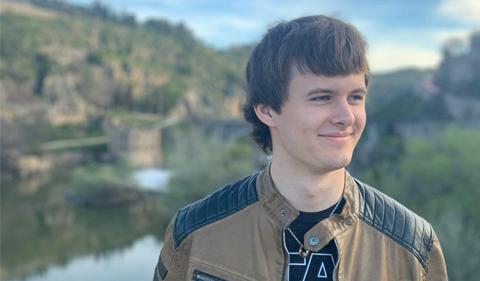 an outdoor snapshot of Daniel Dunfee