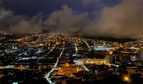 Ecuador city at night