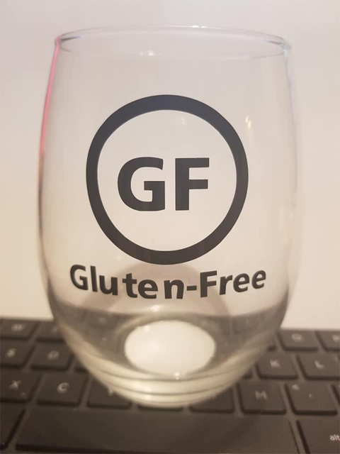 Gluten-Free glass sticker