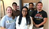 Ohio University physicists Kristyn Brandenburg, Zach Meisel, Chowdhury Irin Sultana (M.S. 2019, now a doctoral student at Central Michigan University), Shiv Subedi, and Doug Soltesz