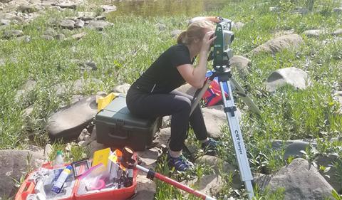 Sarah Thurkettle explores paleofloods on the Greenbriar River, WV