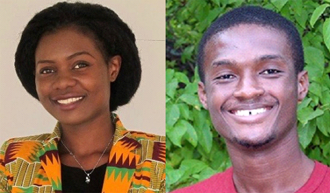 Swahili instructors Seline Ayugi Okeno and Yaw Adutwum Awuah