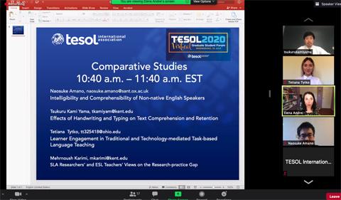 Tanya Tytko presents at TESOL, online.