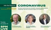 Ask the Experts about Coronavirus Vaccine, Herd Immunity, Work from Home, Dec. 15