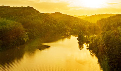 Sunset along the Hocking River