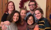 From left, Kalinda Thayer, Rasmia Shraim, Michelle O'Malley, Mark Sakach, and  Georgia Curran
